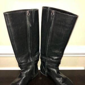 Ralph Lauren Black Leather Boots Sz 7.5